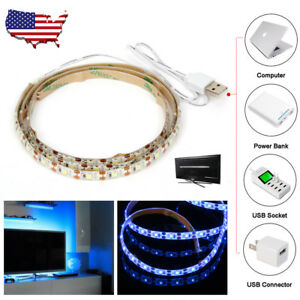 3FT 60 LED USB Strip String Lamp Light Tent Blue Light Outdoor Hiking Camping