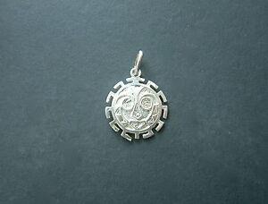 Gelernt Sonne Mit Greek Silber Anhänger 925 Klar Und Unverwechselbar