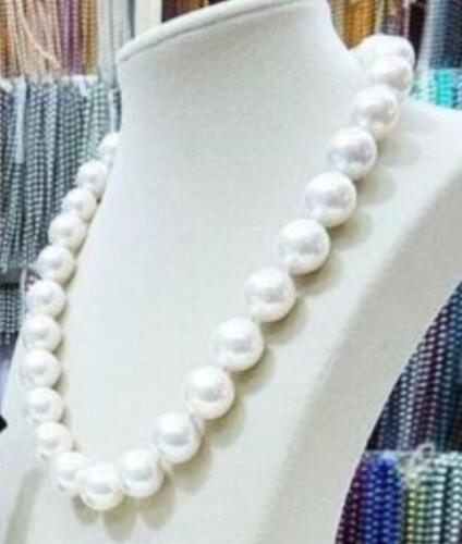 14 mm Blanc South Sea Shell Perle Collier Bracelet Boucles d/'oreilles sets
