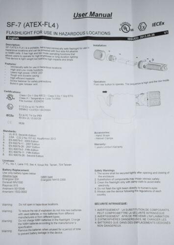 Unilite ATEX-FL4 130 lm DEL Sécurité Intrinsèque Torche-Lampe de Poche