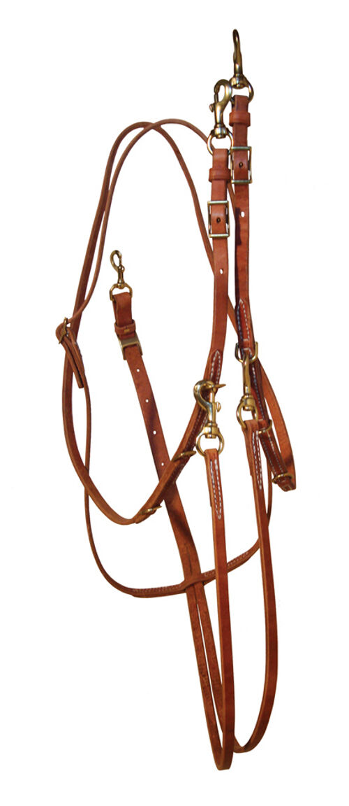 German Martingale with Barrel Rein All Leather Amish Made H848