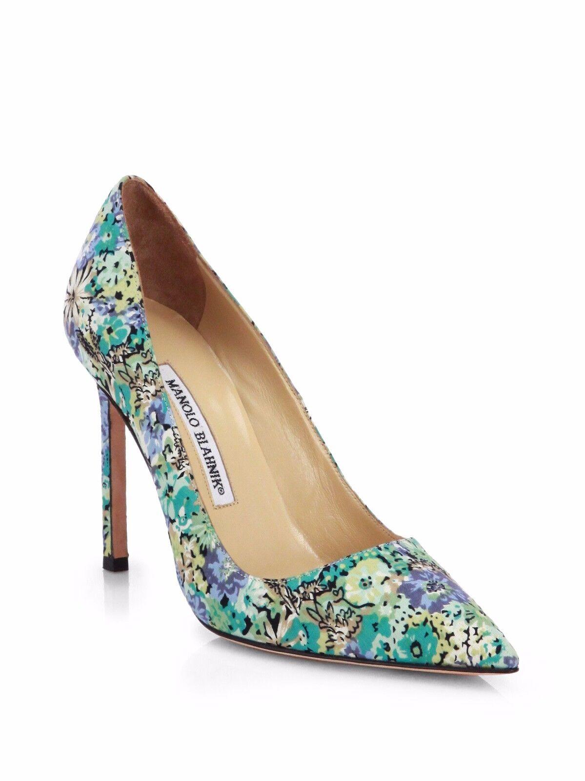 NIB   665 MANOLO BLAINIK BB Floral -Print 105 POINTED TOE PUMP scarpe 36   6  sconto