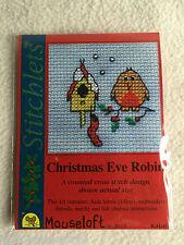 MOUSELOFT STITCHLETS CROSS STITCH KIT ~ CHRISTMAS EVE ROBIN ~ CHRISTMAS ~ NEW