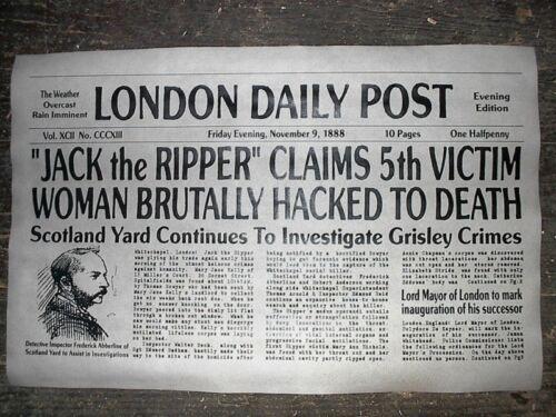 "NOVELTY POSTER HALLOWEEN JACK the RIPPER WHITECHAPEL LONDON 18/""x30/"" 037"