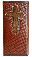 Nocona Western Wallet Mens Rodeo Tooled Hair Onlay Copper N5426208