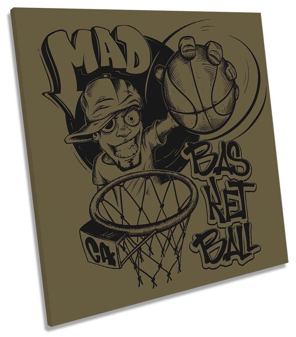 MAD BASKET ART. a Muro Immagine Stampa quadrato