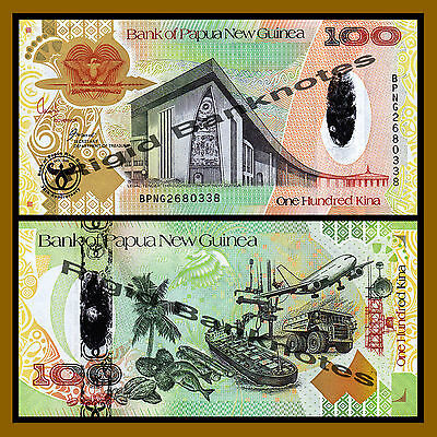 50;100 Kina UNC ND SET Papua New Guinea 1989-2008 P-11-37