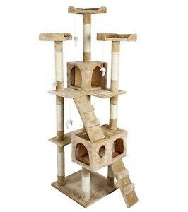 CONAN Tiragraffi altezza 170 - col. BEIGE per Amico Gatto Cuccia Giochi cat cats