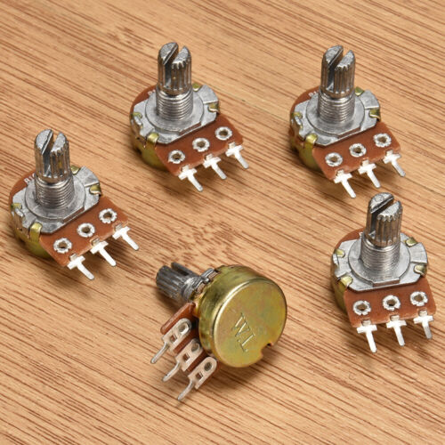 5Pcs 10K OHM 15mm Terminal Linear Taper Rotary Resistor Potentiometer /& Knobs JT