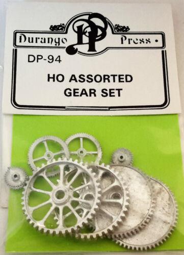 HO//HOn3 Scale Durango Press /'Assorted Gear Set/' Kit #DP-94