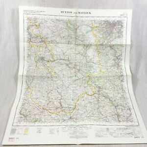 1970 Vintage Militare Map Buxton Matlock Belper Il Picco District Derbyshire