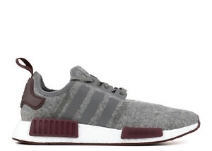 newest 1567a 2d260 Image is loading Adidas-NMD-R1-Grey-Wool-3M-Maroon-Size-
