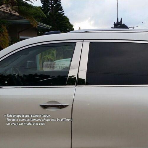 Chrome Stainless Steel Window Pillar Garnish Cover 6P For TOYOTA 2012-2016 Camry