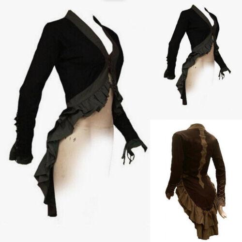 Women/'s Vintage Victorian Renaissance Gothic  s Costume Coat Jacket Long  LHM15