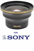 55mm Hd .30x Fisheye Macro Lens For Sony Alpha A200 A300 A350 A330 A450 A850