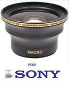 55mm Hd .30x Fisheye Macro Lens For Sony Alpha A200 A300 A350 A330 A450 A850