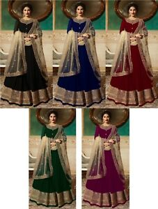 Salwar Kameez Suit Indian Designer Pakistani Dress Anarkali Wear Shalwar Ml-afficher Le Titre D'origine Artisanat Exquis;