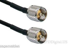 1-ft-LMR-240-Coax-PL259-Connectors-50-Ohm-Commercial-Ham-Radio-RF-Jumper-Cable