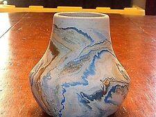 Vintage Nemadji Native American Art Pottery Swirl Vase