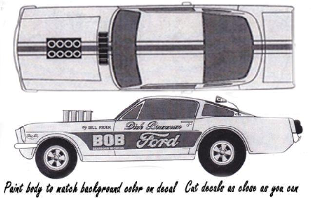 Dick Brannon Bob Ford Mustang Nhra 164th Ho Scale Slot Car