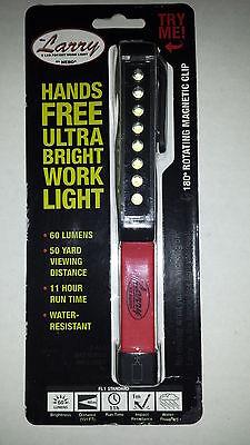 Larry 8 LED Ultra Bright Pocket Work Light Magnetic Base Pocket Clip Red #5925