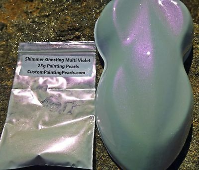 Shimmer Ghosting Multi Violet Pearl Pigment Plasti Dip Auto Lacquer Clearcoat