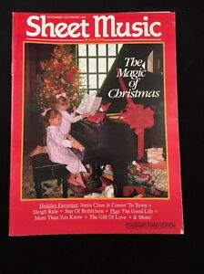SHEET-MUSIC-MAGAZINE-VOLUME-15-NUMBER-6-NOVEMBER-DECEMBER-1991-MAGIC-CHRISTMAS
