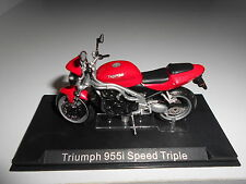 TRIUMPH 955i SPEED TRIPLE BIKE MOTO ALTAYA IXO 1/24