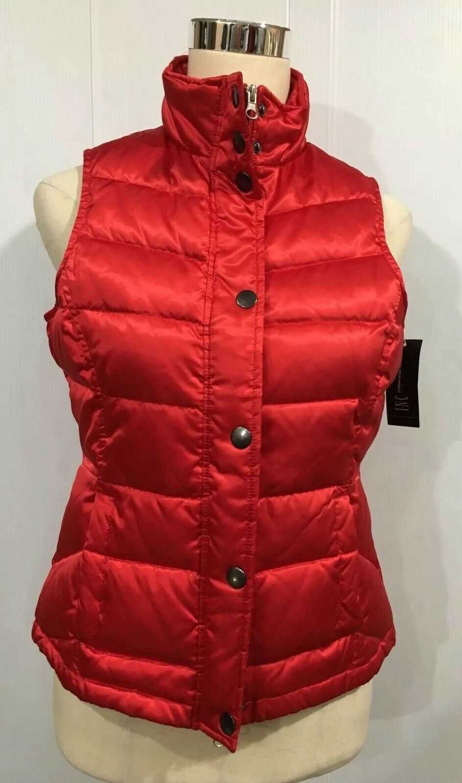 International concepts Red Fusion Puffer Warm Vest Sz.P,Xs, S NWT, 99