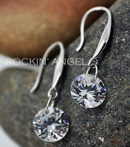 925-Silver-Plated-Crystal-Drop-Dangle-Earrings-Truly-Stunning-Ladies-Gift