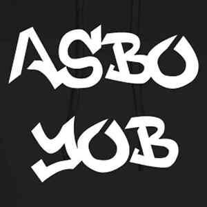 Men-039-s-Hoodie-ASBO-Yob-Hoodie-Black