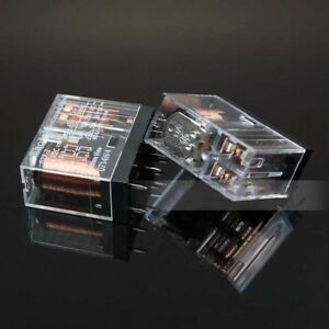 1x ╍ Omron G2R-2A-12VDC relais ╍ 12 V 2 Pole 5 A Contacts ╍ 6 broches PCB DPST