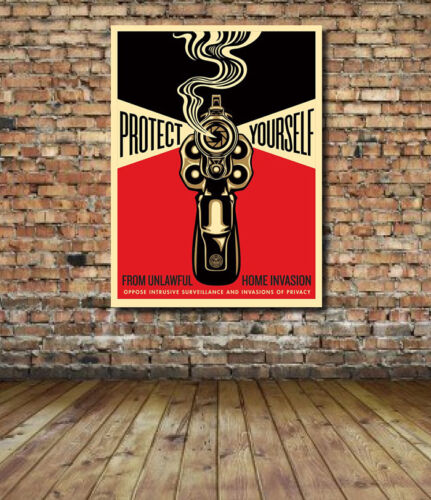 Protect Yourself Obey Giant Shepard Fairey Canvas Print  Hope