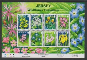 Jersey-2005-Fleurs-Sauvages-Feuille-MNH-Sg-MS1234b