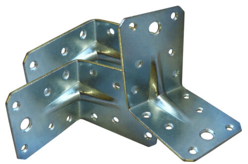 50 x Winkel 7 x 7cm mit Steg verzinkt Metall-Winkel Bauwinkel Winkelverbinder