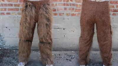 ADULT BROWN WEREWOLF FUR BEAST LEGS PANTS COSTUME DRESS NEW 1015BSC