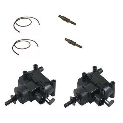 For Mercedes R107 W201 Door Lock Vacuum Actuators w// Hose Connectors /& Hoses
