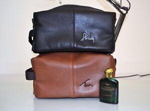 3d1270c2ee Mens wash bag Groom men gift Nuhide leather Toiletry dopp kit ...