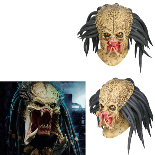 Predator Cosplay Mask Costume Props Helmet Antenna Halloween Party Horror Adult1
