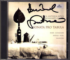 Reinhard GOEBEL Signiert SONATA PRO TABULA Biber Schmelzer Valentini Pezel CD