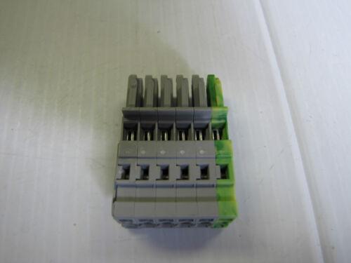 LOT OF 3 WAGO FEMALE PLUG 1 CONDUCTOR 6 POLE 769-106 769106 500V 32A 32 AMP NEW