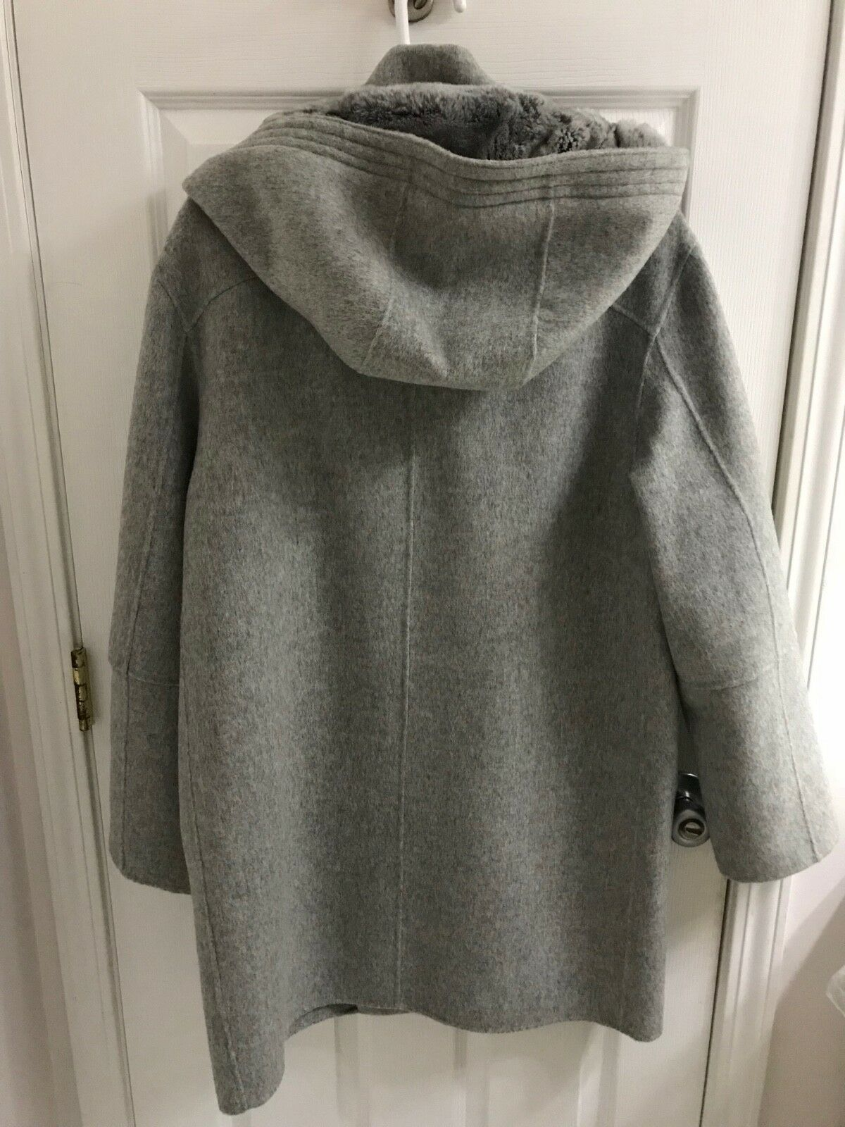 Vince Genuine Genuine Genuine Rabbit Fur Lined Wool Blend Hooded Coat New W Tags Size L 33ee8b