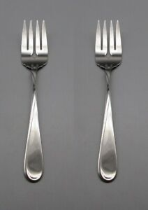 SET-OF-TWO-Oneida-Stainless-FLIGHT-RELIANCE-Serving-Forks-USA