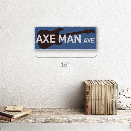 Axe Man Ave Metal Sign; Wall Decor for Studio or Office