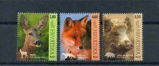 Croatia 2015 MNH Fauna Animals 3v Set Nature Deer Fox Wild Boar