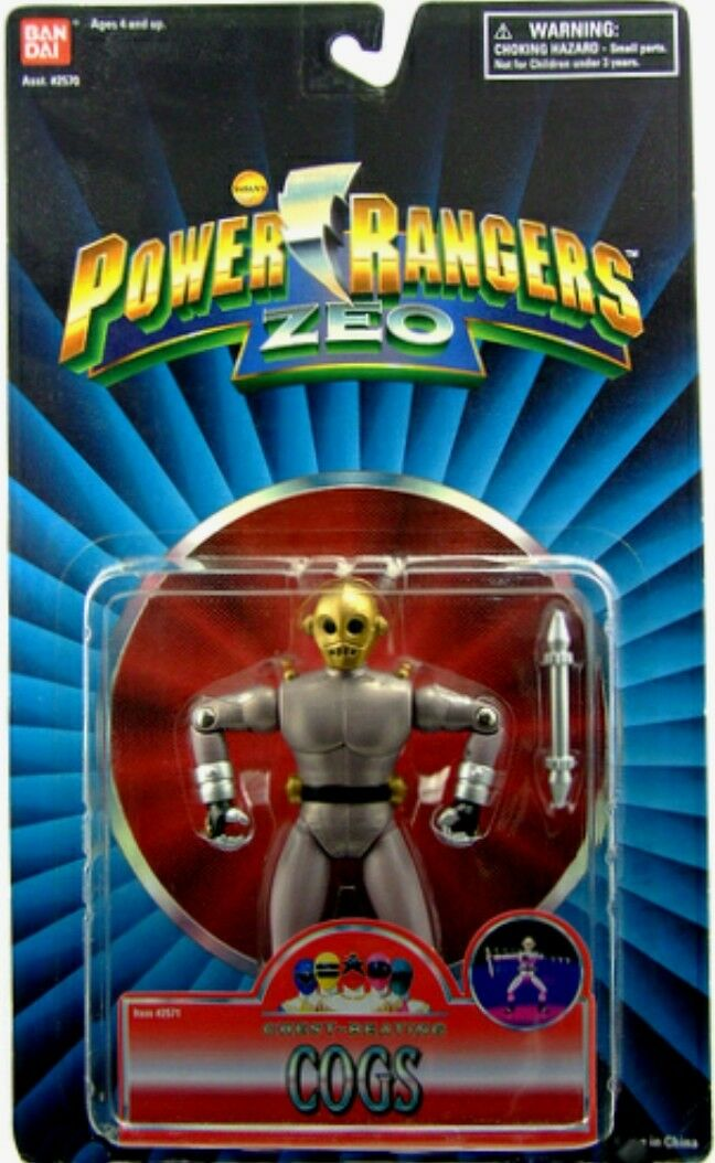Energia Rangers  ZEO 5  Evil Alien Chest-Beating Cogs nuovo Factory Sealed 1996  perfezionare