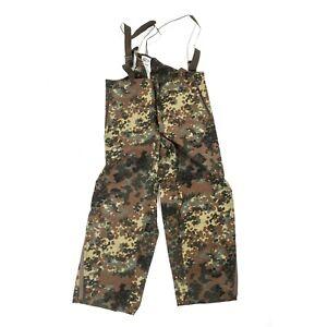 German-Army-Waterproof-Trousers-Pants-Bib-amp-Brace-Goretex-Over-Flecktarn-Camo