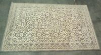Pottery Barn Gray Tile Hand Tufted Wool 5x8 Rug