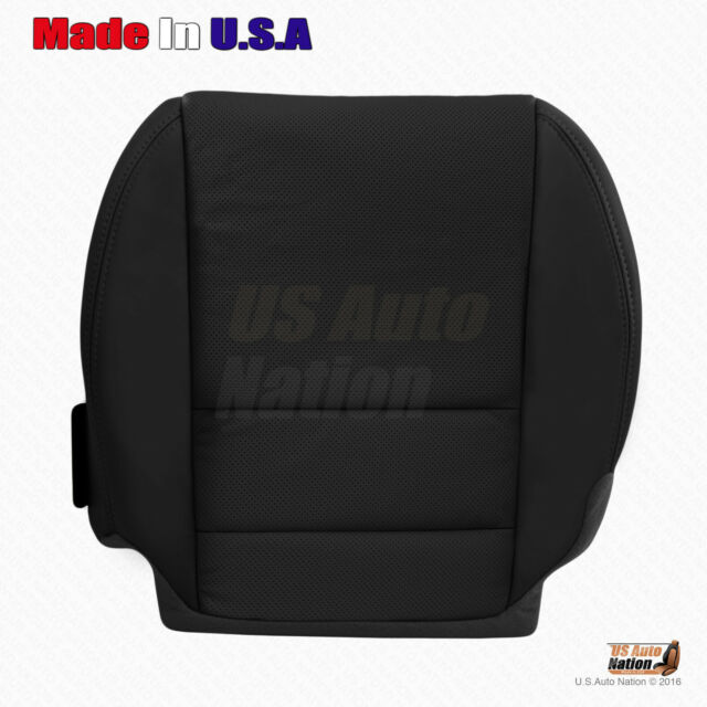 Front Driver Bottom Black Perforated Leather Cover Fits