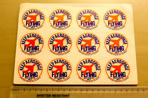 Keep Aerospace Flying stickers  sheet of 12 in mint condition  1980s - <span itemprop='availableAtOrFrom'>Lincoln, United Kingdom</span> - Keep Aerospace Flying stickers  sheet of 12 in mint condition  1980s - Lincoln, United Kingdom